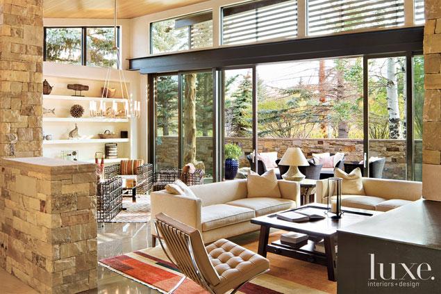 Luxe Interiors Design + Rustica Coffee table