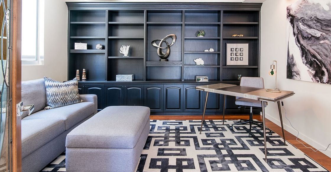 Storage in this Nativa Interiors designed home office