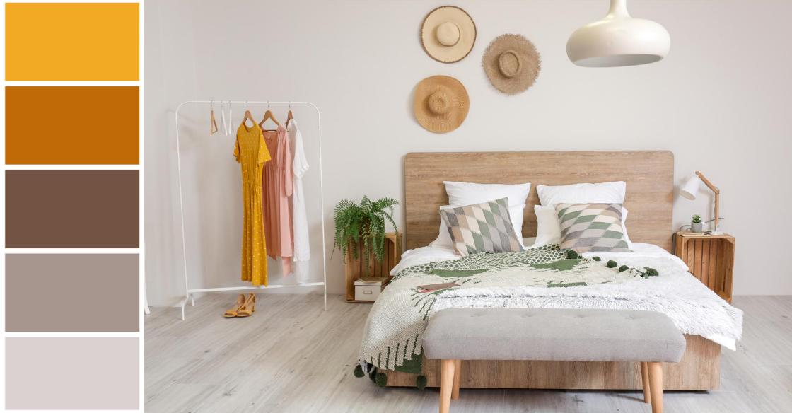 Earthy bedroom color scheme