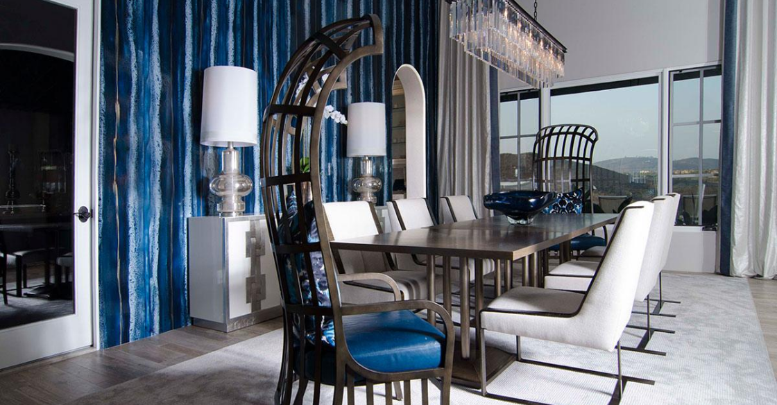 Nativa designed dining room that plays with texture
