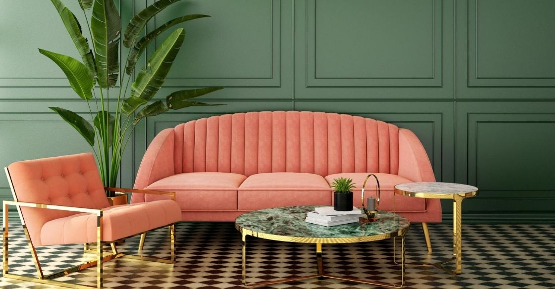 Pink Statement couch