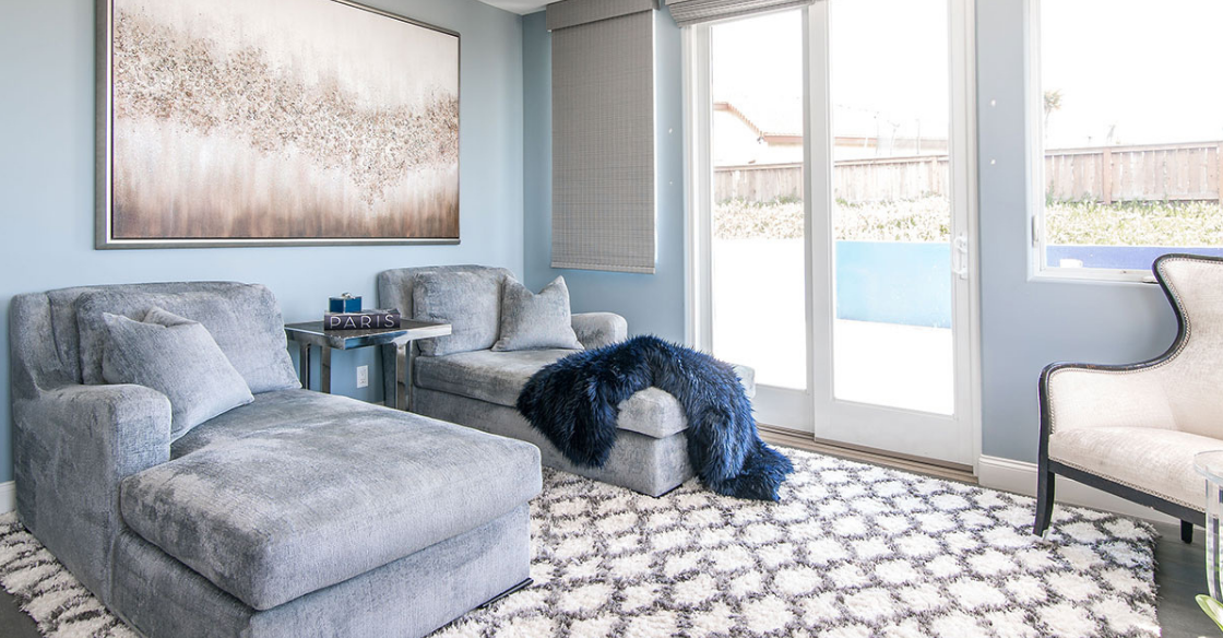 Nativa Designed lounge in a Solana Beach home