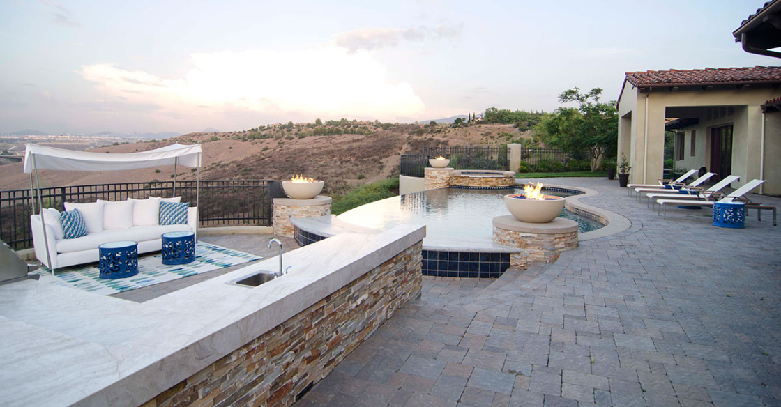 Outdoor space designed by Nativa