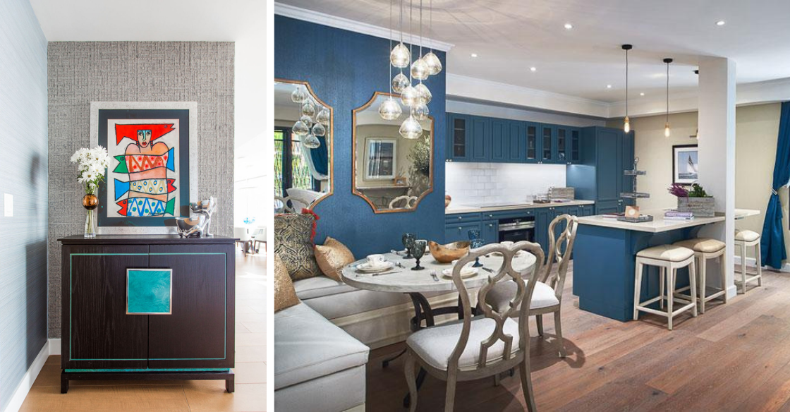 Pops of color incorporated into homes