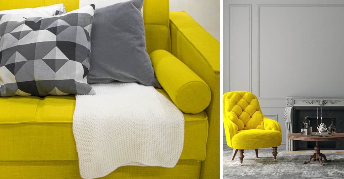 Light Gray and Illuminating yellow
