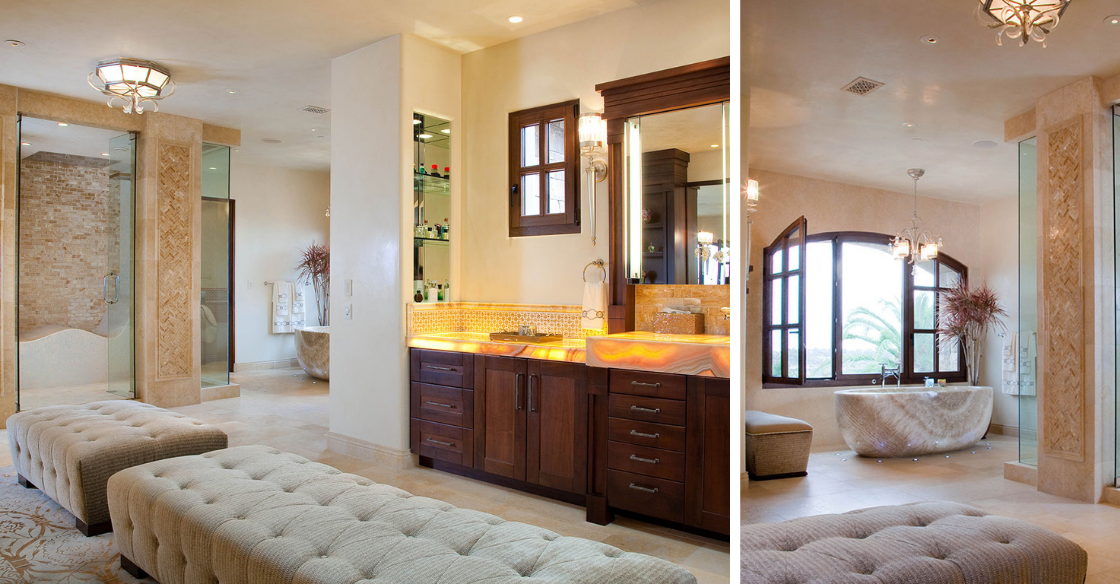 Bathroom with comfortable seating
