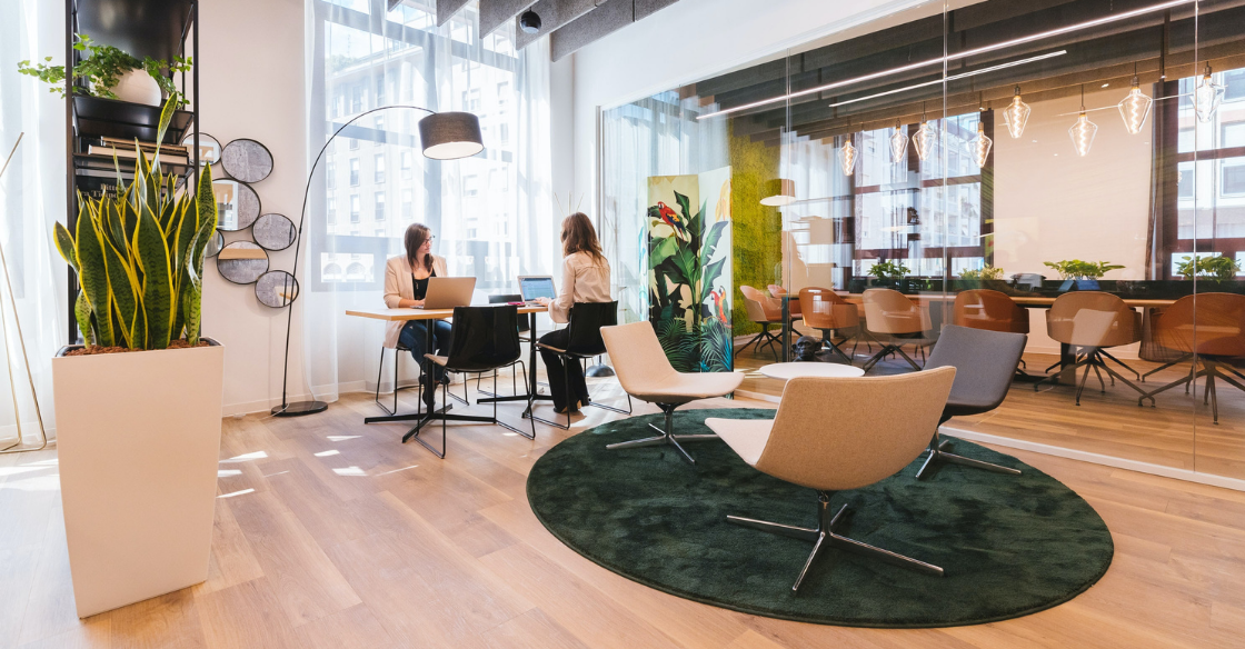 Co-working space in a hotel