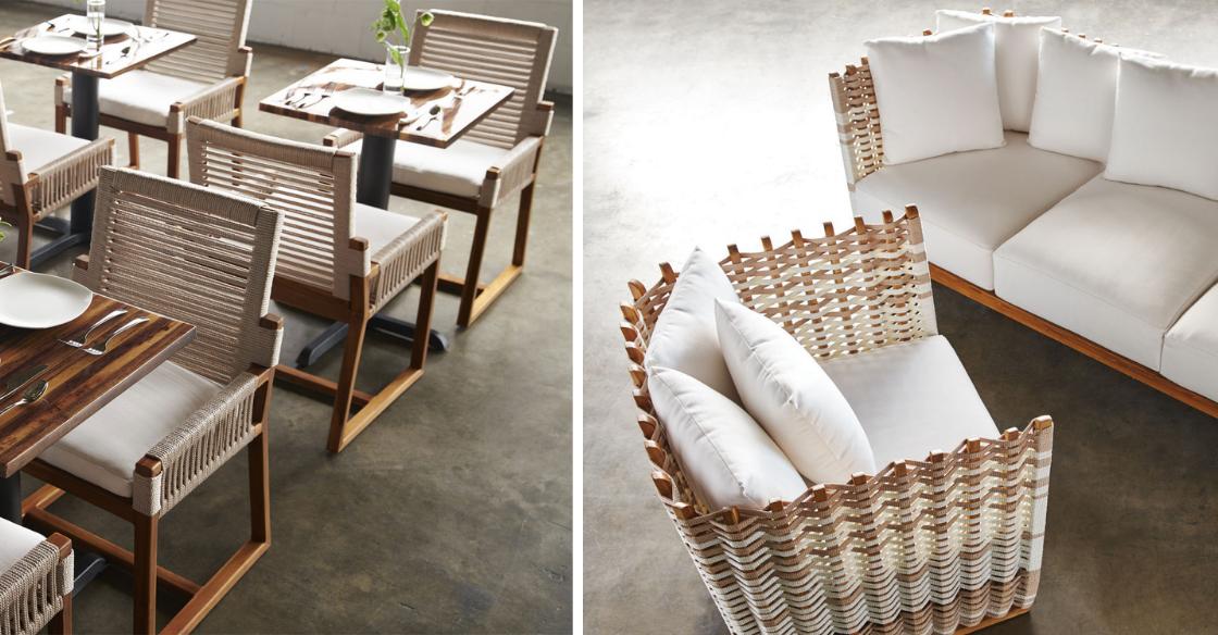 Natural outdoor furniture sets
